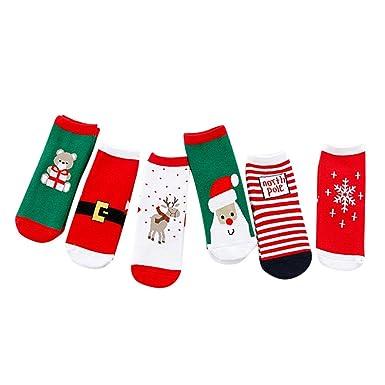 ZODOF Navidad Lindas Medias Calientes Calcetines Ocasionales Lindos De La Navidad De Los NiñOs del Bebé De 5 Pares Calcetines Lindos: Amazon.es: Ropa y ...