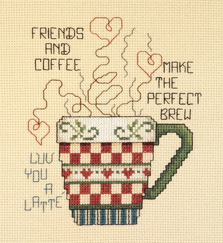 Janlynn Cross Stitch Kit, 5-Inch by 6-Inch, Friends and ()
