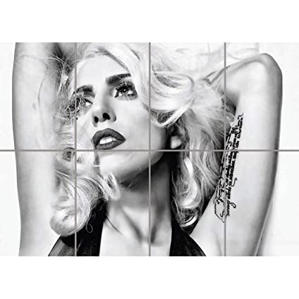 Amazon Com Doppelganger33 Ltd Lady Gaga Black And White Wall Art