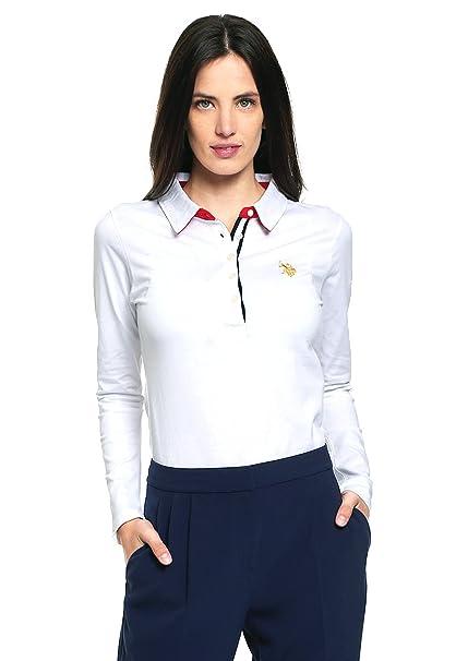 964a7ccff1b75 US Polo ASSN Playera Blanca tipo Polo Polo para Mujer Blanco Talla S ...