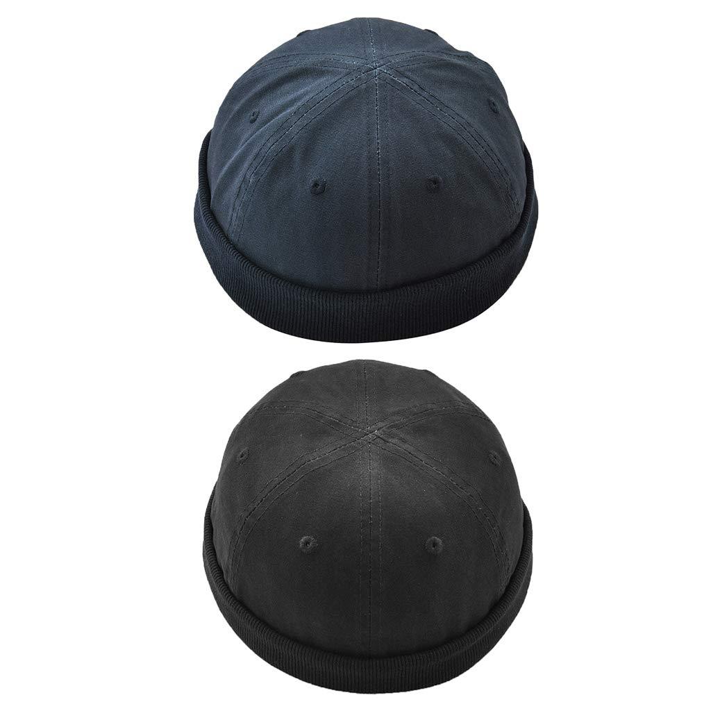 F Fityle 2 Pezzi Cappello Sportivo Docker Skullcap Elegente Accessorio Donna Per Unisex