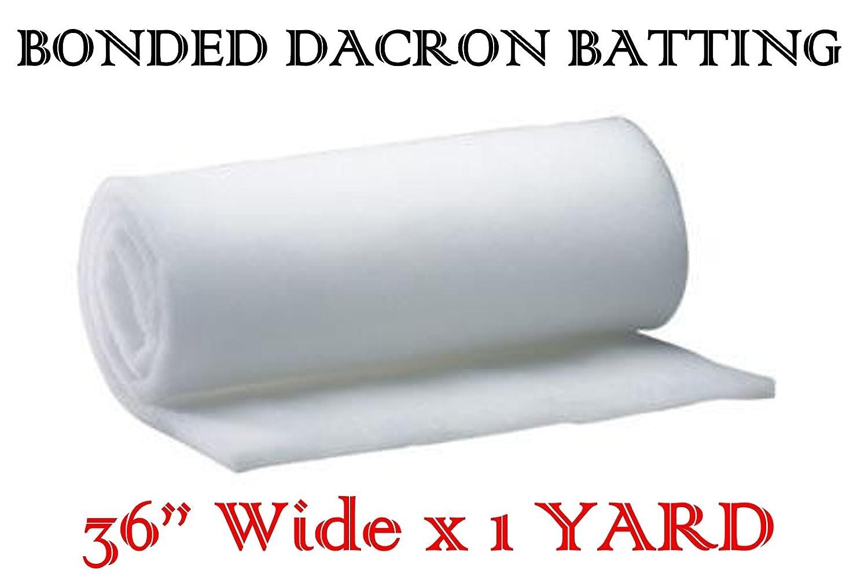 AK-Trading 36 Inch Wide Bonded Dacron Upholstery Grade Polyester Batting (1 Yard) AK TRADING CO.