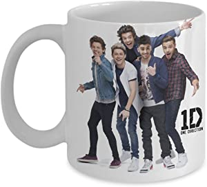 Beautiful One Direction 1D Coffee Mug - One Direction Christmas Gifts - Features a Stunning Image of Niall Horan, Zayn Malik, Liam Payne, Harry Styles and Louis Tomlinson - The Best Buy Gift