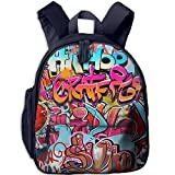 Hip Hop Street Culture Spray Double Zipper Closure Waterproof Children Schoolbag Backpacks With Front Pockets For Youth Boy Girl