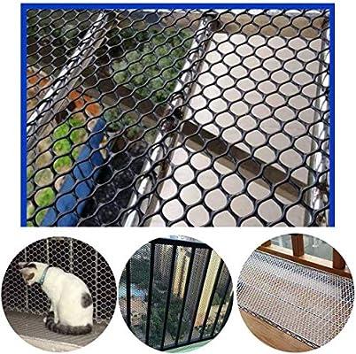 Cerca del Jardín De Plástico De Malla De 12 Mm Negro Aves De Corral Cría Red Pollo Net - Ideal For Plantas, Mascotas, Protección Vegetal Y Escalada De La Red De Soporte