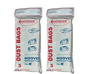 EnviroCare Replacement Vacuum Bags for Hoover Type R Sprint, Tempo, Sprint, Tempo, Hornet, PortalPower II, PTP II Vacuum Cleaners 10 Bags