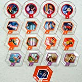 Disney Infinity Series 3 Power Disc Complete Set of 17 (includes rare Wall-Es Fire Extinguisher)