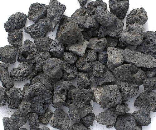 1'' Large Black Lava Rock by FirepitOutfitter