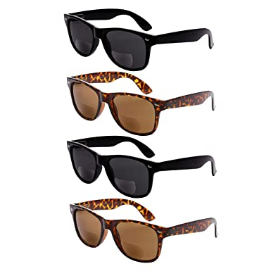 29274023c782 4 Pair Bifocal Sunglasses Reading Glasses - Men and Women - Outdoor Readers  (2 Black