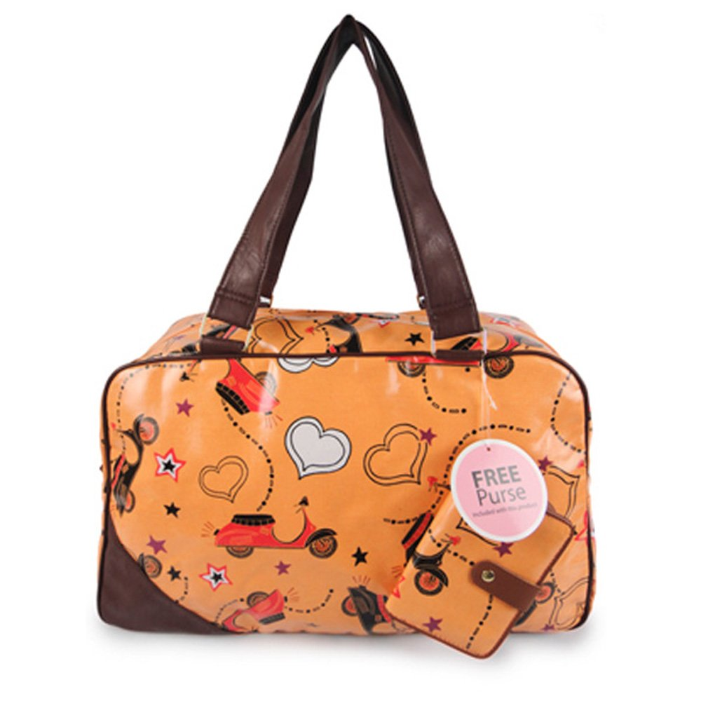 c0e7596c3238 Miss K. Vintage Collection Stylish Holdall with Purse - Scoot Yellow   Amazon.co.uk  Luggage