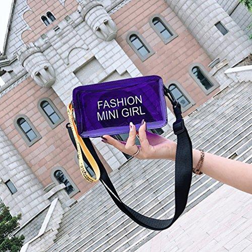 PVC Clear Bag Square Girl's Crossbody Women's White Shoulder Cross Transparent Bag RuYa Messenger Body fwdRHxIIq