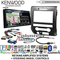 Volunteer Audio Kenwood DNX874S Double Din Radio Install Kit with GPS Navigation Apple CarPlay Android Auto Fits 2009-2014 F-150