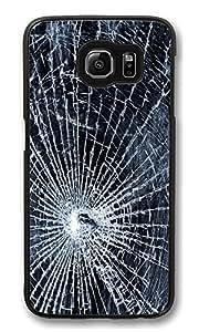 VUTTOO Rugged Samsung Galaxy S6 Case, Broken Screen Hard Plastic Case for Samsung Galaxy S6 PC Black