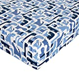 Glenna Jean Dino Blue Crib Sheet Fitted 28''x52''x8'' Nursery Standard