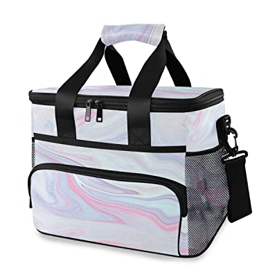 ALAZA Marble Texture Large Cooler Insulated Picnic Bag Lunch Box for Adult Men Women : Garden & Outdoor