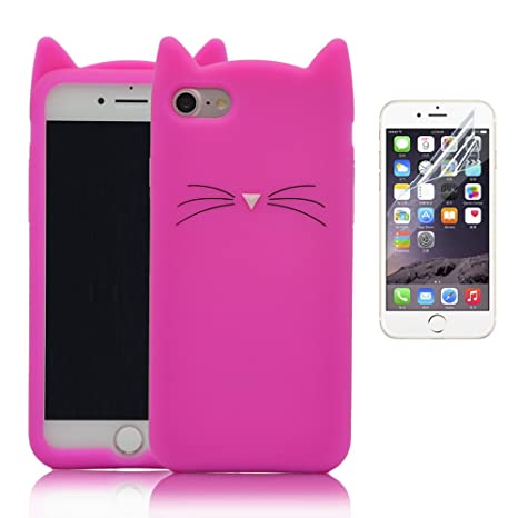 design di qualità edfe5 e82c0 Cover per iPhone 5 Silicone, Custodia per iPhone 5S, Bonice Morbido Ultra  Thin Flessibile TPU Rubber Silicone Cartoon Moustache Case per iPhone 5 5  SE ...