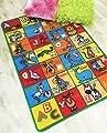 Hr's 3ft X 5ft Kids Educational/playtime Non-slip Gel Back Area Rug Carprt Multi Color (abc Animals)