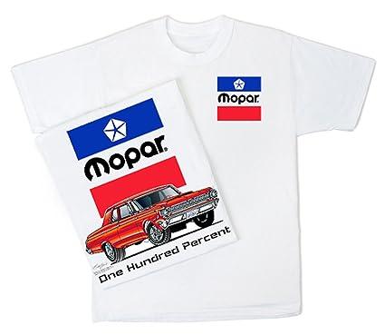 Mopar T Shirt One Hundred Percent Adult White