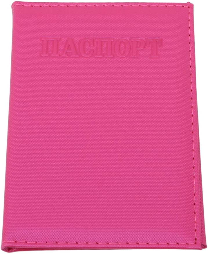 LIUCM Passport Cover Women Dot Embossing Travel Storage Supplies Card Holder Ticket Holder Pink