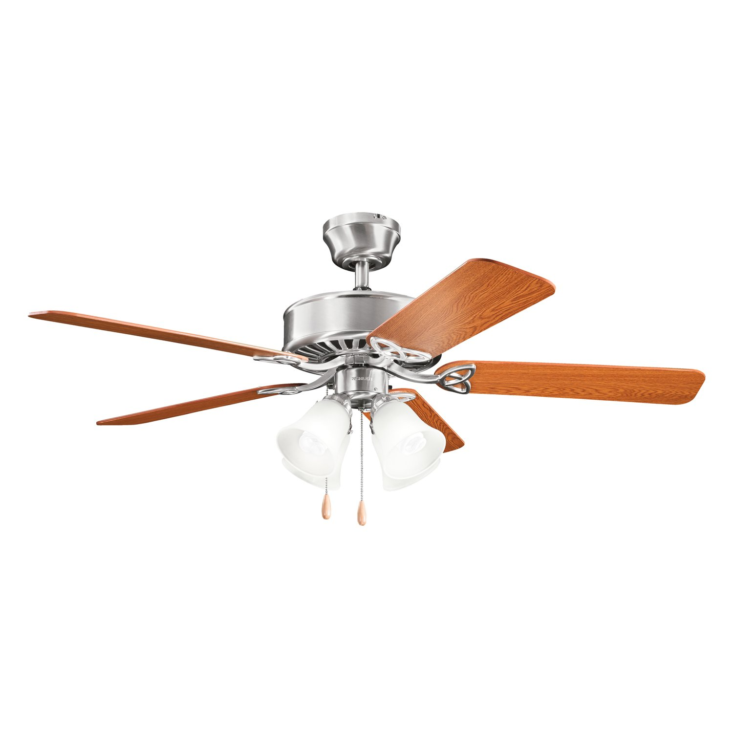 Kichler 339240BSS, Renew Premier Brushed Stainless Steel 50 Ceiling Fan with Light