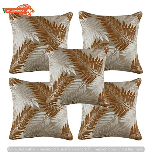 Buy Goldenize Mustered2 Set Of 5 Trow Cushion Pillow Cover Decroative Polyster Silk Square Cushion Cover Outdoor Couch Sofa Home Pillow Cover 12x12inch 30cmx30cm Made In India Product Id P1 12x12 Online At Low Prices In India