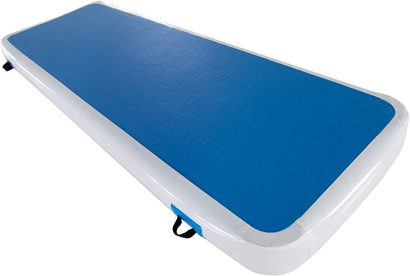 NFJMWM Tumbling Mat Gymnastique Gonflable Arts Martiaux Formation Yoga Mat Mat Sol Air Mat Piste 20cm /épais pour lexercice dentra/înement Gym,1/×0.6Mwithoutairpump