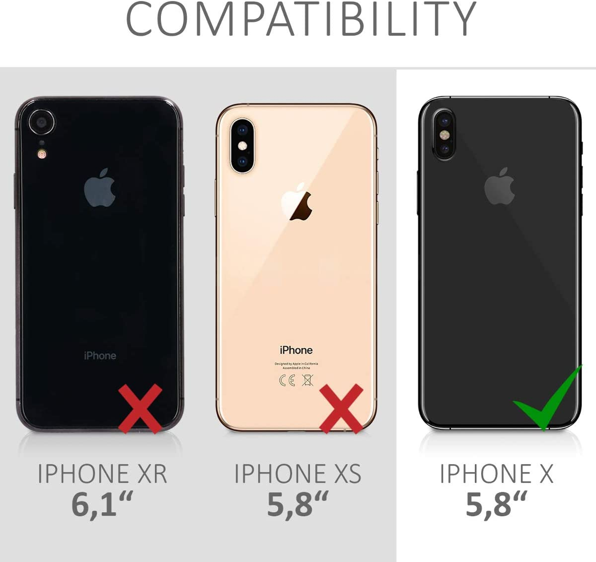 kwmobile TPU Silicone Case Compatible with Apple iPhone X - Case Slim Protective Phone Cover with Soft Finish - White