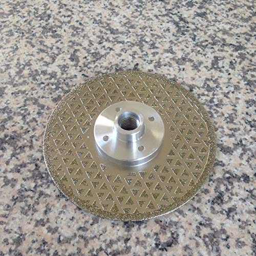 Maslin Marble Electroplated Saw Blade 5 inch Double Vanity Pyramid Design Diamond Cutting Blades for Stone Limestone with M14 Flange