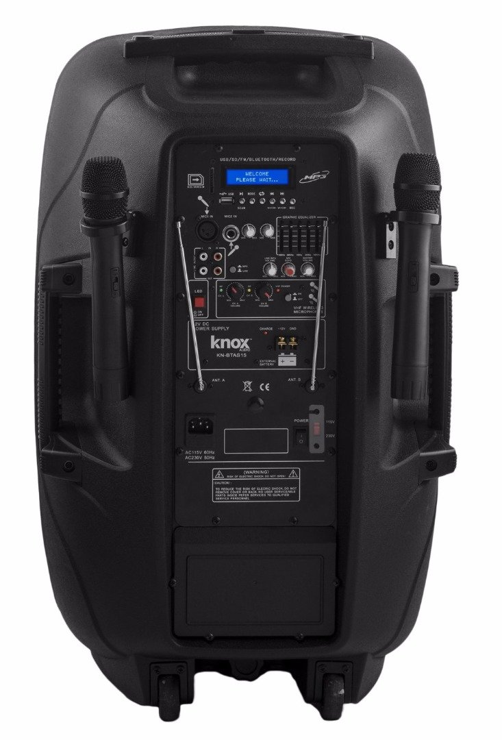 Knox Gear 100-Watt 12-Inch Portable Bluetooth PA and Karaoke Party Speaker System by Knox (Image #3)