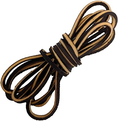 Genuine Leather Shoelaces Boot Shoe Laces-easy Sizing Cut to Fit 72 inch