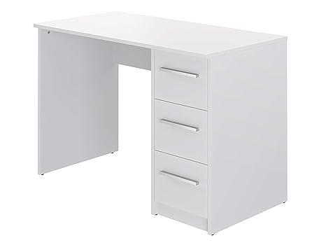 Movian Idro Modern - Escritorio con 3 cajones, 56 x 110 x 73,5 cm (blanco)