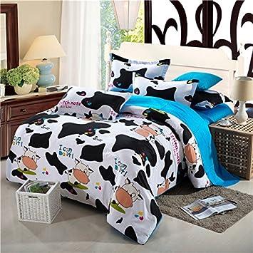linge de lit vache Parure de lit Motif imprimé vache Parure de lit coton lit housse  linge de lit vache