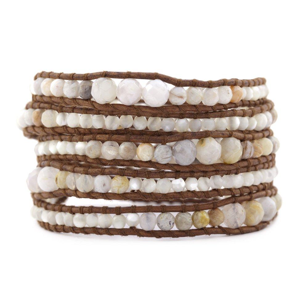 Chan Luu Graduated African Opal Wrap Bracelet - BS-3097
