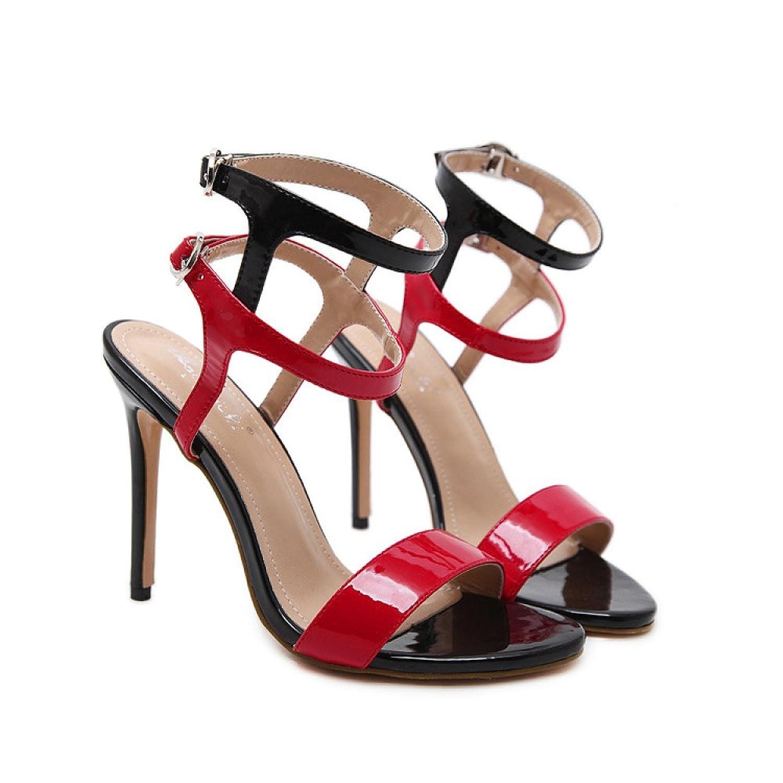e4968d13c ZPFMM Sandalias De Las Mujeres Peep Toe Sandalias Sexy Correa De Tobillo  Slip-on Tacones