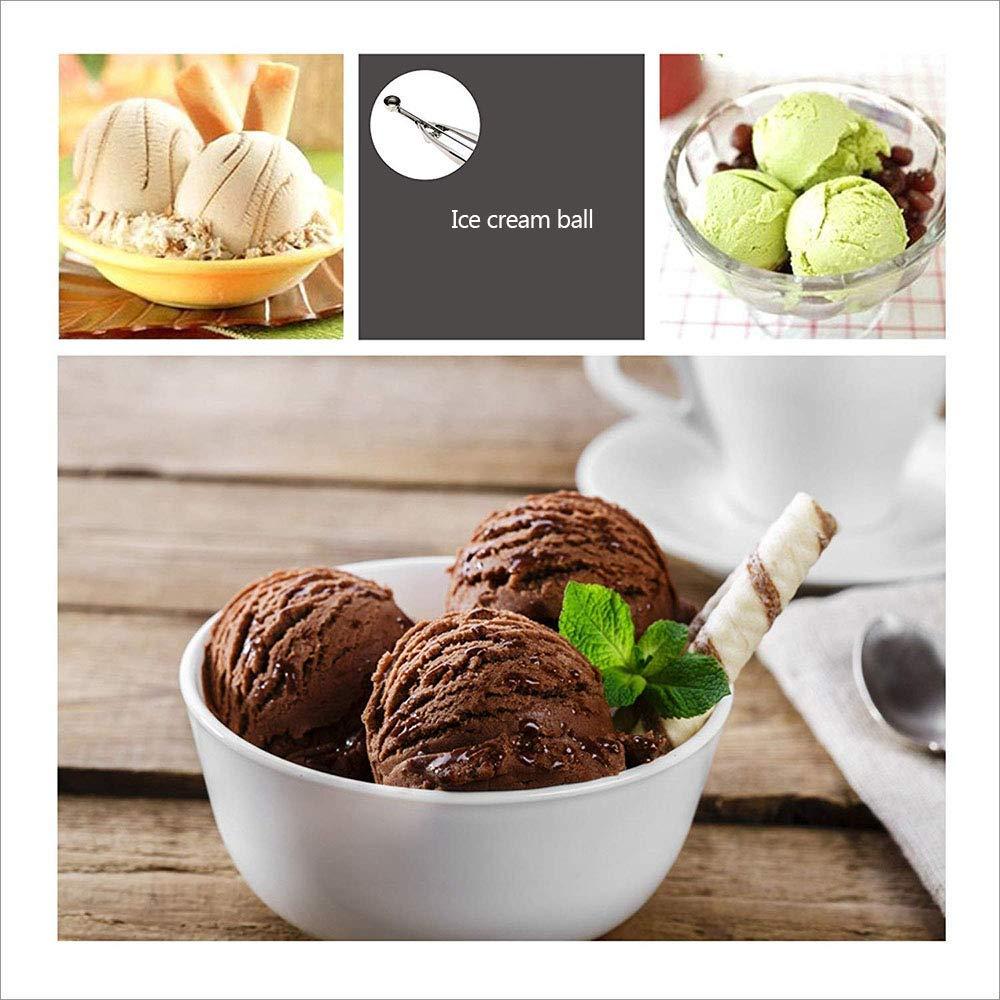 3 Pcs Boules Cuill/ère /à Cr/ème Glac/ée R/éutilisable Ice Cream Scoop en Acier 304 Inoxydable avec Renforcer Cuill/ères Sph/ériques pour Cookies Servir Glace Sorbets 4CM 5 FUKTSYSM Cuill/ère /à Glace