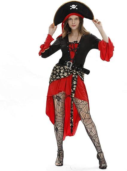 TOFOTL - Vestido de Mujer para Cosplay, Moderno Traje Pirata ...