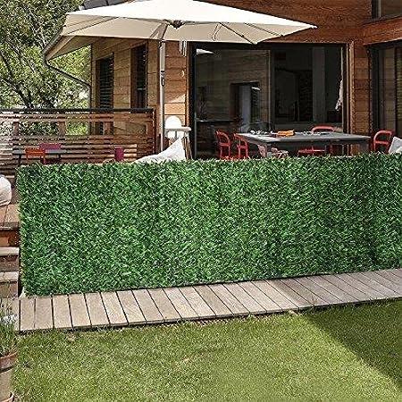 Amazon Com Porpora 3 3x10 Foot Privacy Screen Green Hedge Slats