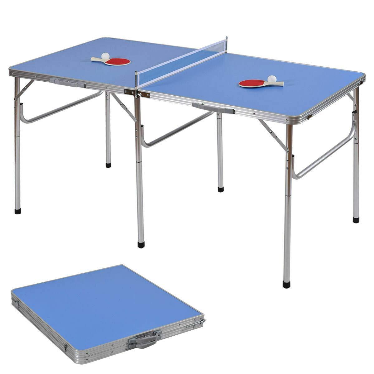 Cozinest 60インチ ポータブル 卓球 ピンポン 折りたたみテーブル アクセサリー付き 屋内ゲーム