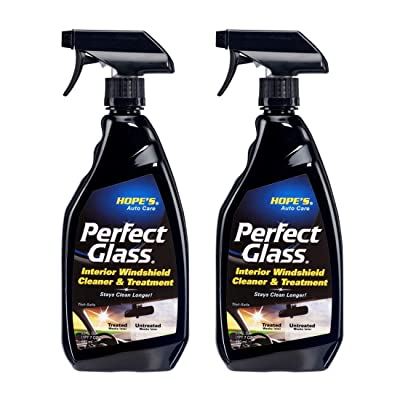 HOPE'S Auto Care Perfect Glass Interior Windshield Cleaner and Treatment - 23 oz, No-Residue Formula, Enhanced Visibility, Blocks Haze and Film, Safe on Tint, Streak-Free, Ammonia-Free - Pack of 2: Automotive