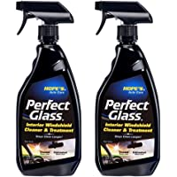 HOPE'S Auto Care Perfect Glass Interior Windshield Cleaner and Treatment - 23 oz, No-Residue Formula, Enhanced…