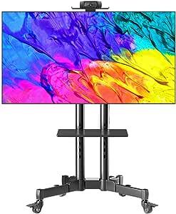 XDDan Base de TV, TV Stand Planta, TV Móvil Soporte Carro de la Compra de LCD de 32 a 70 Pulgadas LED TV de Pantalla Plana de Plasma con Las Ruedas estantes