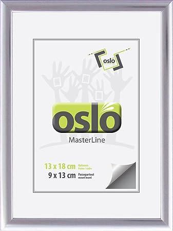 Amazon De Oslo Masterline Bilderrahmen 13x18 Silber Glanzend