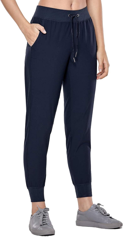CRZ YOGA Pantal/ón Deportivo Mujer con Bolsillos Pantalones Harem con Cordones
