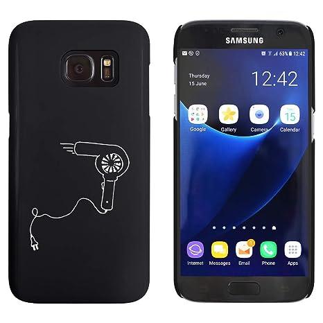 Azeeda Negro Secador de Pelo Funda / Carcasa para Samsung Galaxy S7 (MC00055687