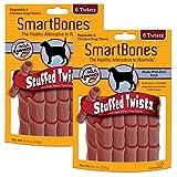 SmartBones Stuffed Twistz Dog Chew, Rawhide & Porkhide Free, Pork (2 Pack)
