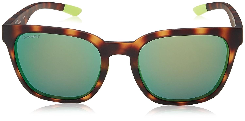 Unisex Founder X8 Sunglasses, Havana Yellow/Gn Green, 55 Smith
