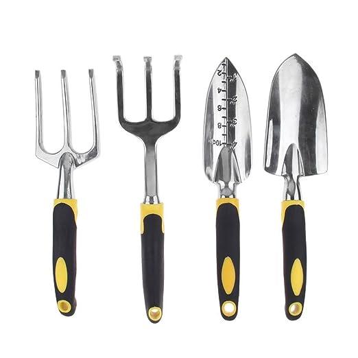 welinks 4pcs aluminio conjuntos de herramientas de jardinería con ...
