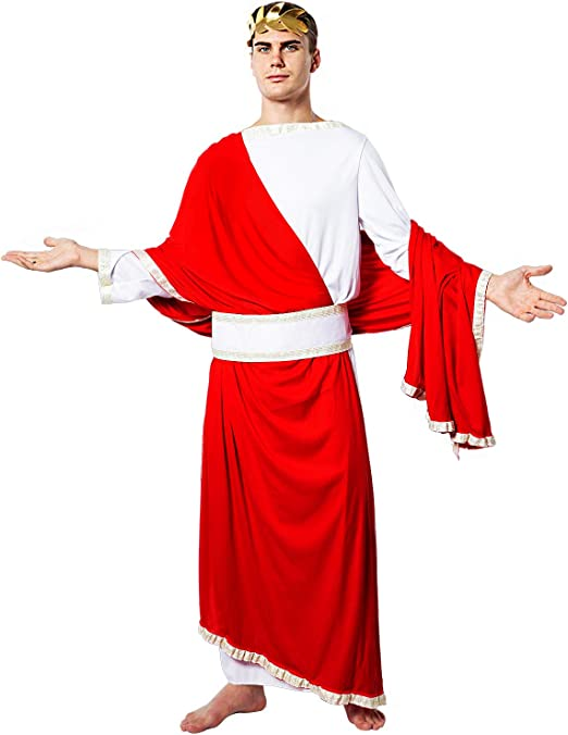 EraSpooky Disfraz de Toga Disfraz del Emperador Romano César ...
