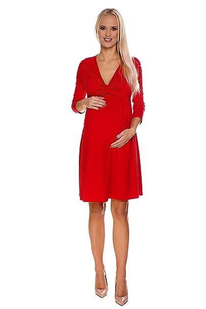 bf1146b12da7 My Tummy Vestio allattamento Luise rosso - Vestito premaman XL (X-large)  Abbigliamento
