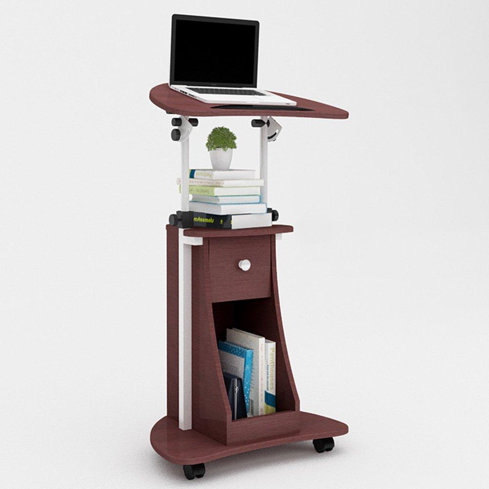 YNN ポータブルテーブル モバイルデスク調節可能な高さラップトップテーブル折りたたみコンピュータデスク (色 : Brown)  Brown B07P9H69S2